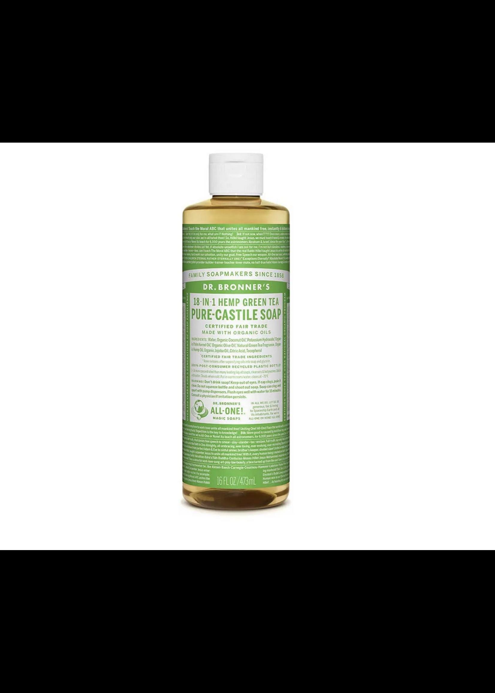 Dr Bronner's Dr Bronner's  Pure Castile Soap Green Tea 473ml light green label