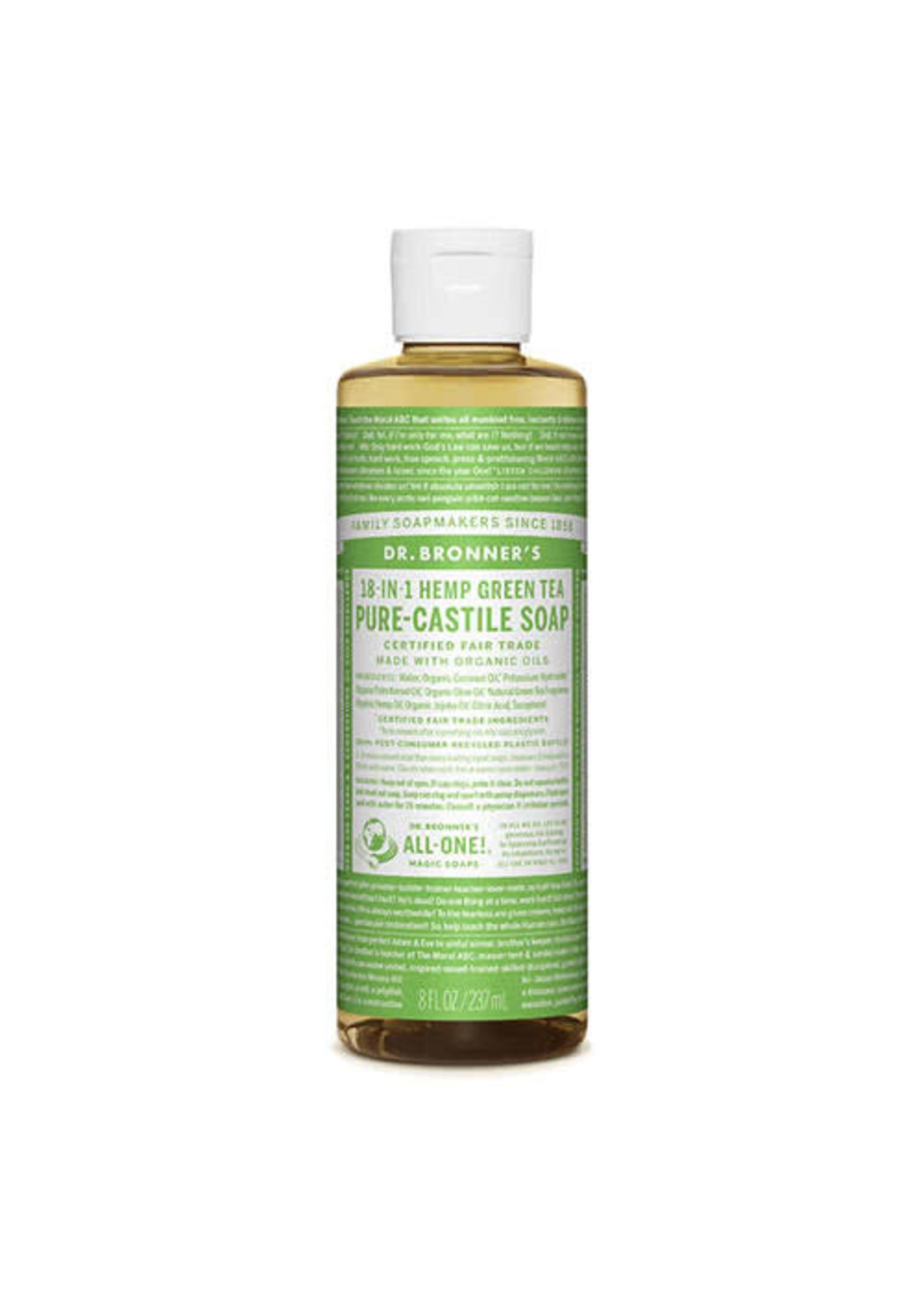 Dr Bronner's Dr Bronner's Pure Castile Liquid Soap Green Tea 237ml green label