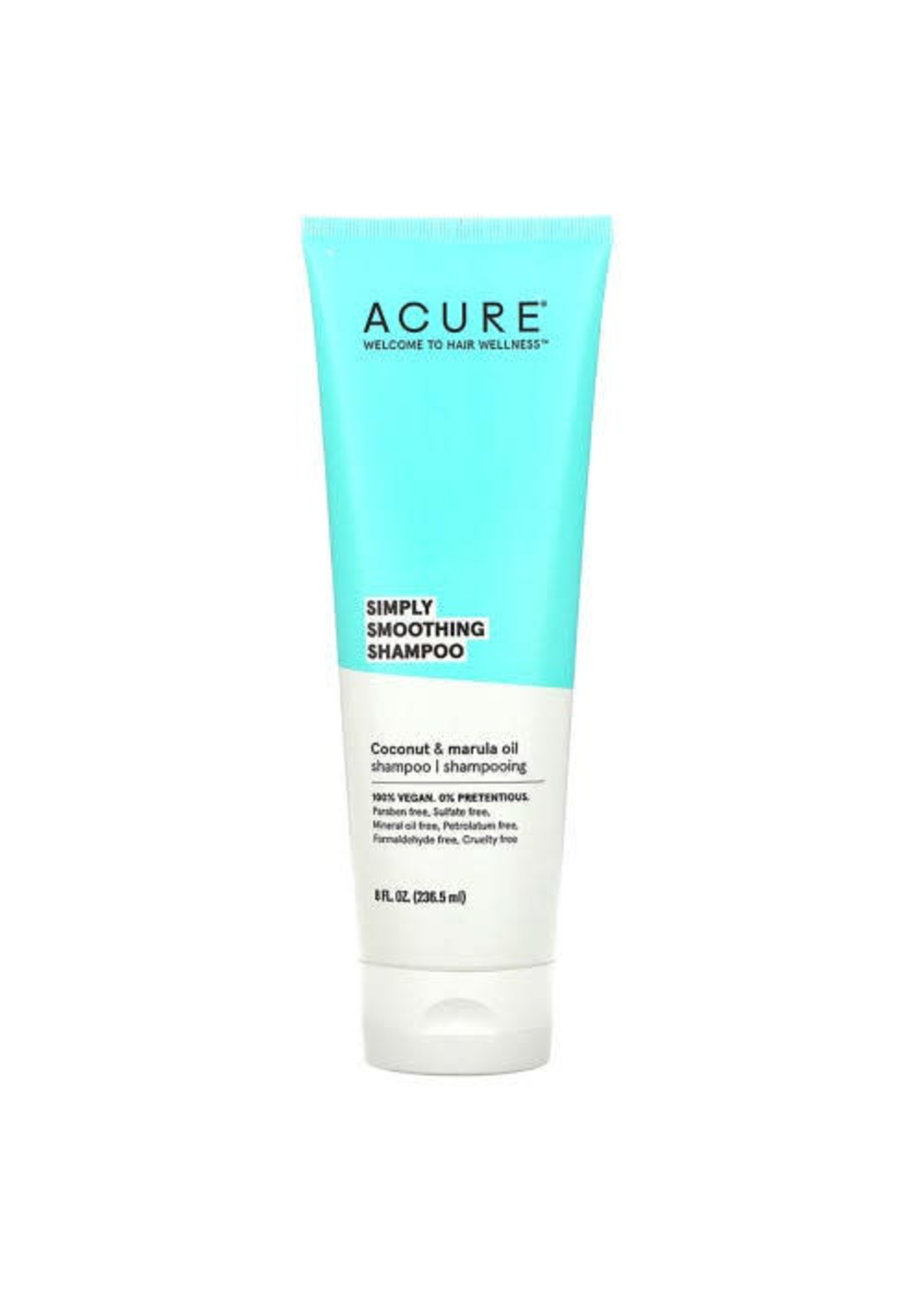 Acure Acure Simply Smoothing Shampoo Coconut  & Marula Oil 236mls