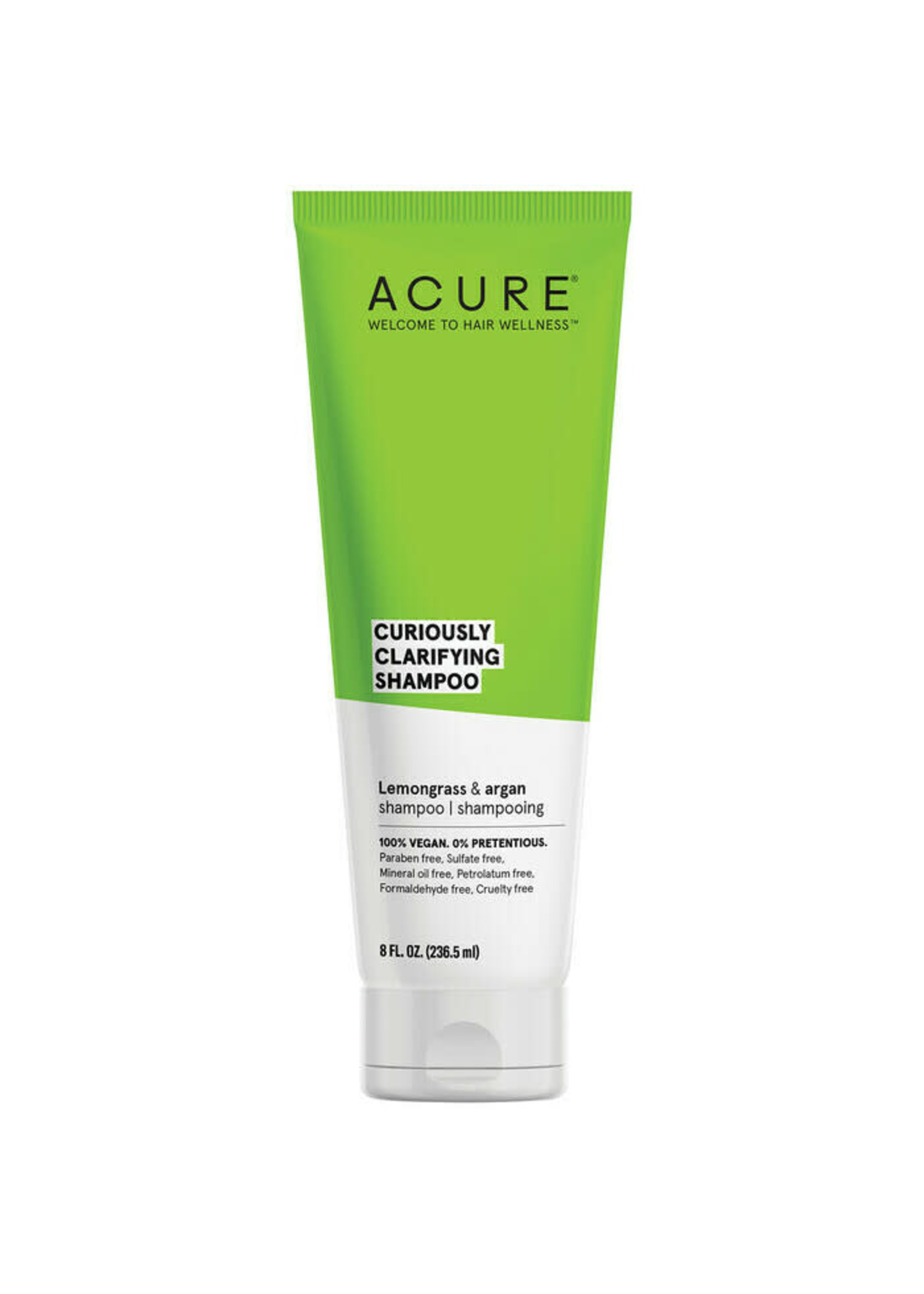 Acure Acure Curiously Clarifying Shampoo Lemongrass & Argan 236mls