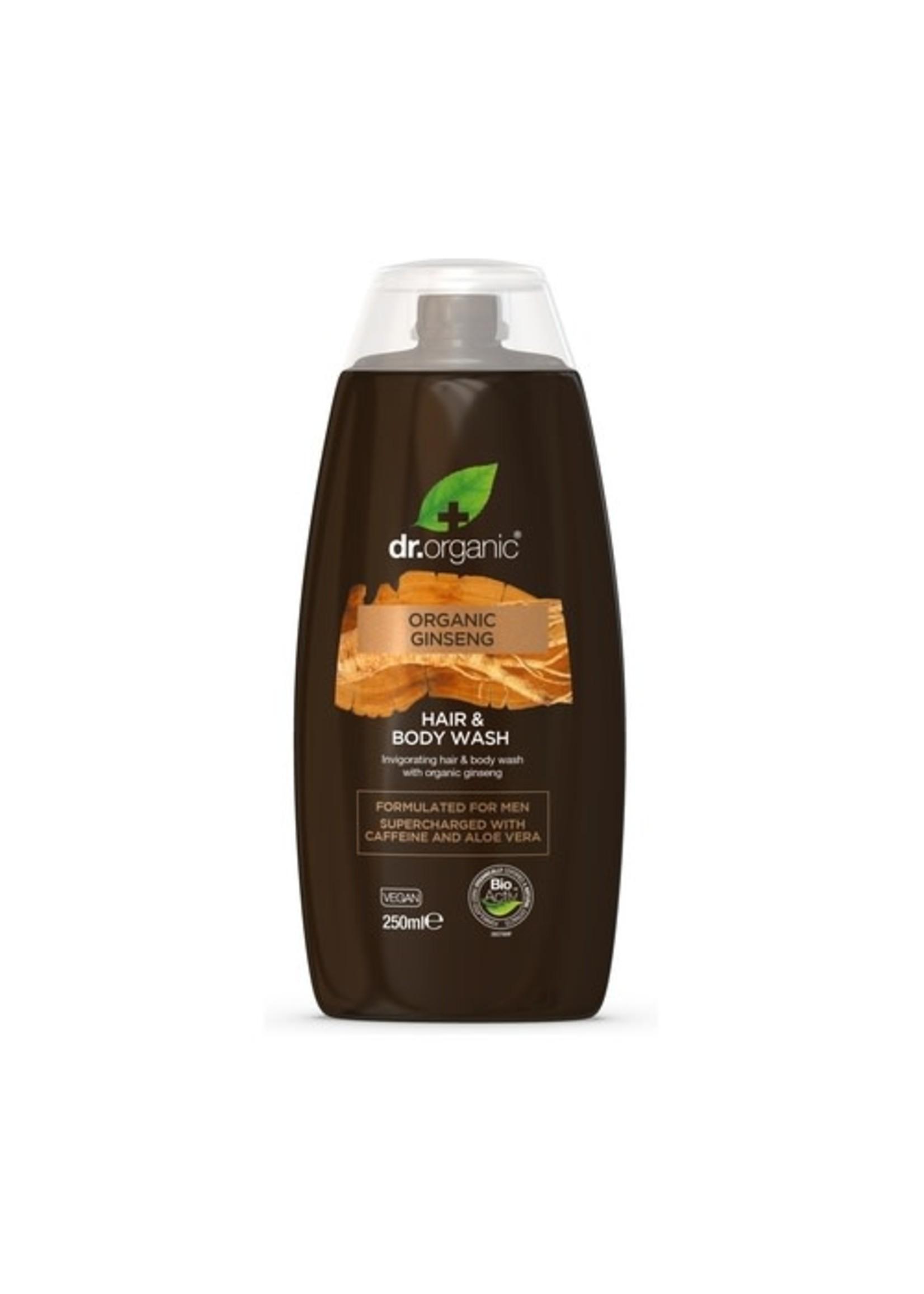 Dr Organic Dr Organic Men's Hair & Body Wash with Ginseng  250ml