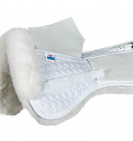 EA Mattes Medium A/P Correction Half Pad White/White Sheepskin Panels