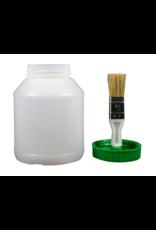 RJ Matthews Hoof Oil Jar Empty with Brush Lid