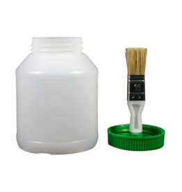 RJ Matthews Hoof Oil Jar Empty with Brush Lid