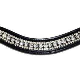 Nunn Finer Birgit Browband Black with Crystals