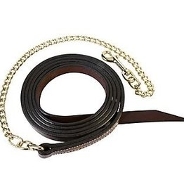 "Weaver 7' Leather Lead with 30"" Brass Chain"