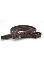 """Dr Cooks 3/4"""" Beta Flat Super Grip Reins with Buckles Brown"""