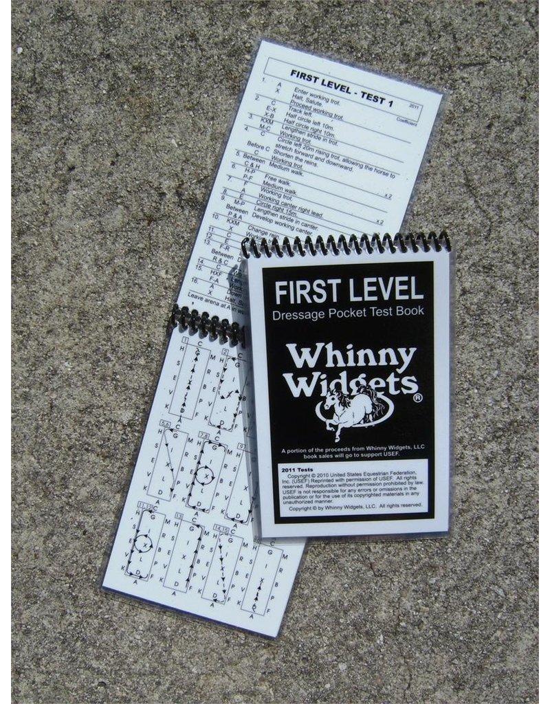 Whinney Widgets First Level Dressage Test Book