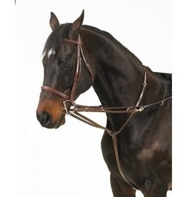 Camelot Leather German Martingale Set Black
