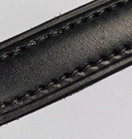 Fairfax XL Browband Raised Stitched Leather Black