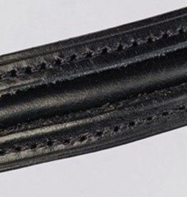 Fairfax Fairfax XL Browband Piped Leather Black