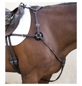 Nunn Finer Cob 5 Way Hunting Breastplate with Elastic & Zinc Havana