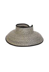 BC Hats Hamptons Wheat Visor Black