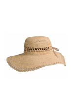 BC Hats Amy Crocheted Raffia with Vented Crown