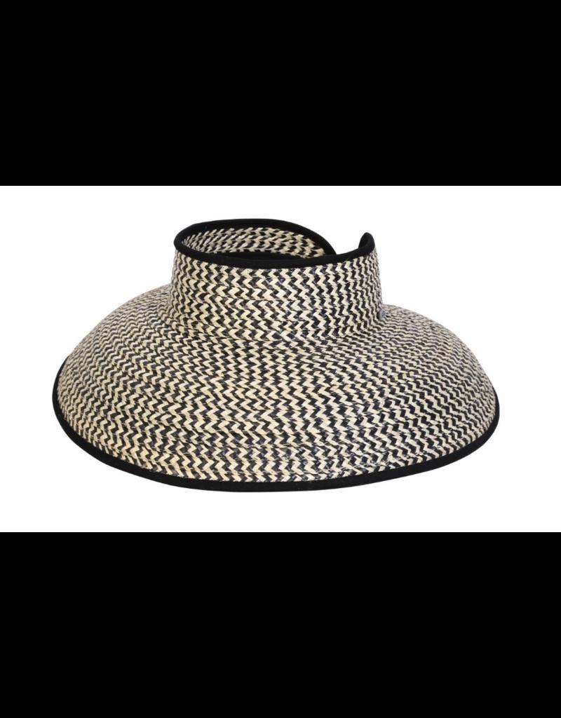 BC Hats Natural Wheat Straw Visor One Size