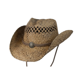 BC Hats Coffee Organic Raffia with Concho
