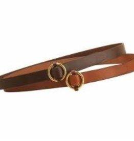 Tory Leather Ring Buckle Belt Oakbark
