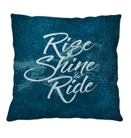 Kelley Rise Shine and Ride Throw Pillow