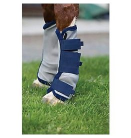 Horseware Amigo Fly Boots Silver/Navy Pony