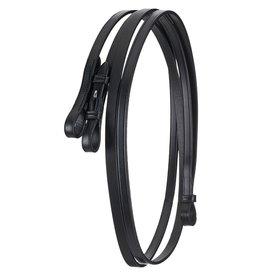 Schockemohle Double Bridle Curb Rein Warmblood Black 13mm