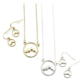 Wyo-Horse Inc Silver Mountain Circle Necklace
