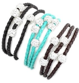 Wyo-Horse Inc Bling and Braided Leatherette Wrap