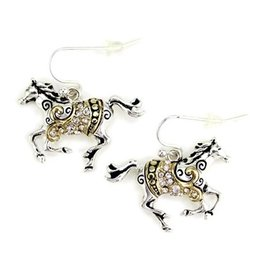 Wyo-Horse Inc Swirling Horse Earrings Copper/Silver
