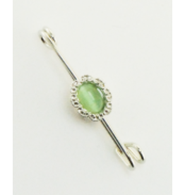 Finishing Touch Oval w Peridot Cats Eye Stock Pin