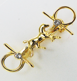Finishing Touch Trotting Horse Bit w Stones Stock Pin