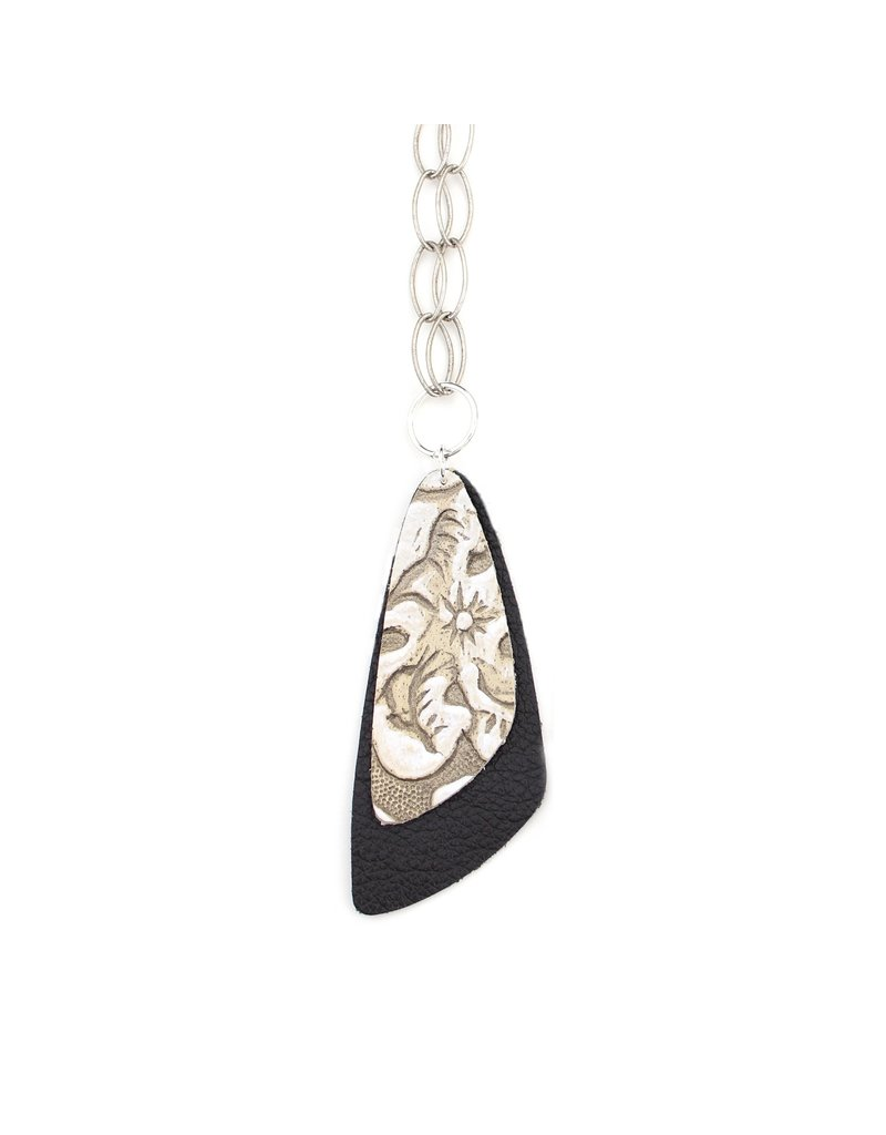 One Wild Double Descent Necklace Grey