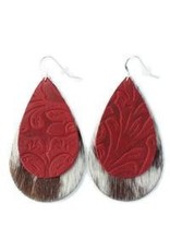 One Wild Double Drop Earrings Red/White Medium