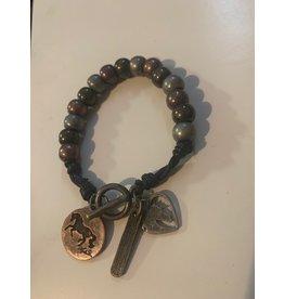 Kelley Mixed Metal Beaded Bracelet