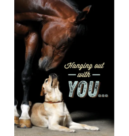 Horse Hollow Press Thinking of You Greeting Card Dog/Horse