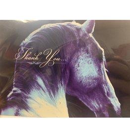 Horse Hollow Press Grey Horse Thank You Card