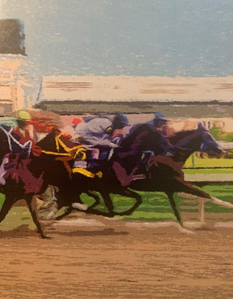 GT Reid Racing Horses Blank Card