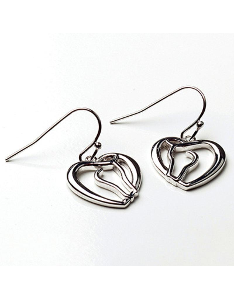 Kelley Horse Head/Heart Earrings