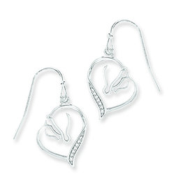 Kelley Mare and Foal Heart Earrings