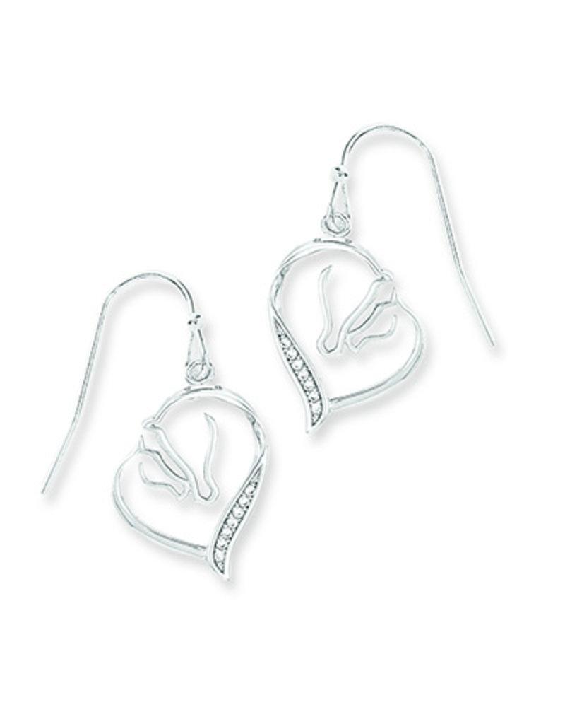 Kelley Mare and Foal Heart Earrings