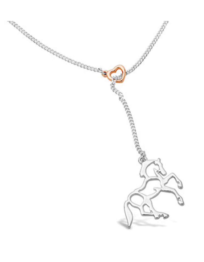 Kelley Heart and Silver Horse Pendant
