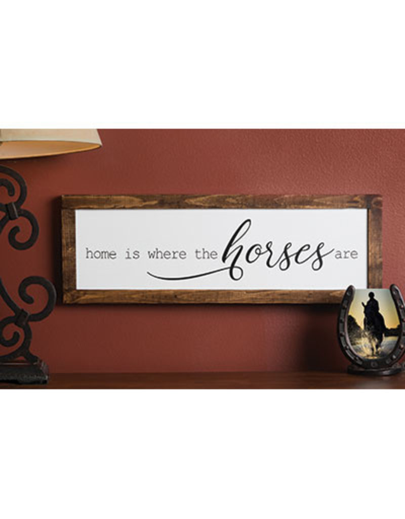 Kelley Home is Where the Horses Are Framed  Wall Art