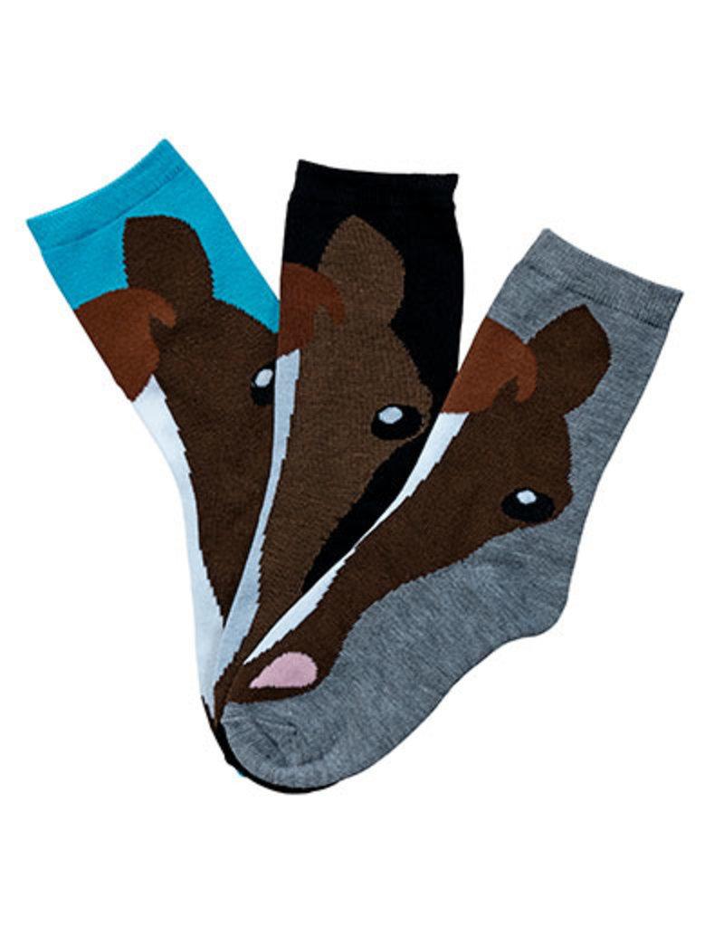 Kelley Ladies Horse Face Crew Socks