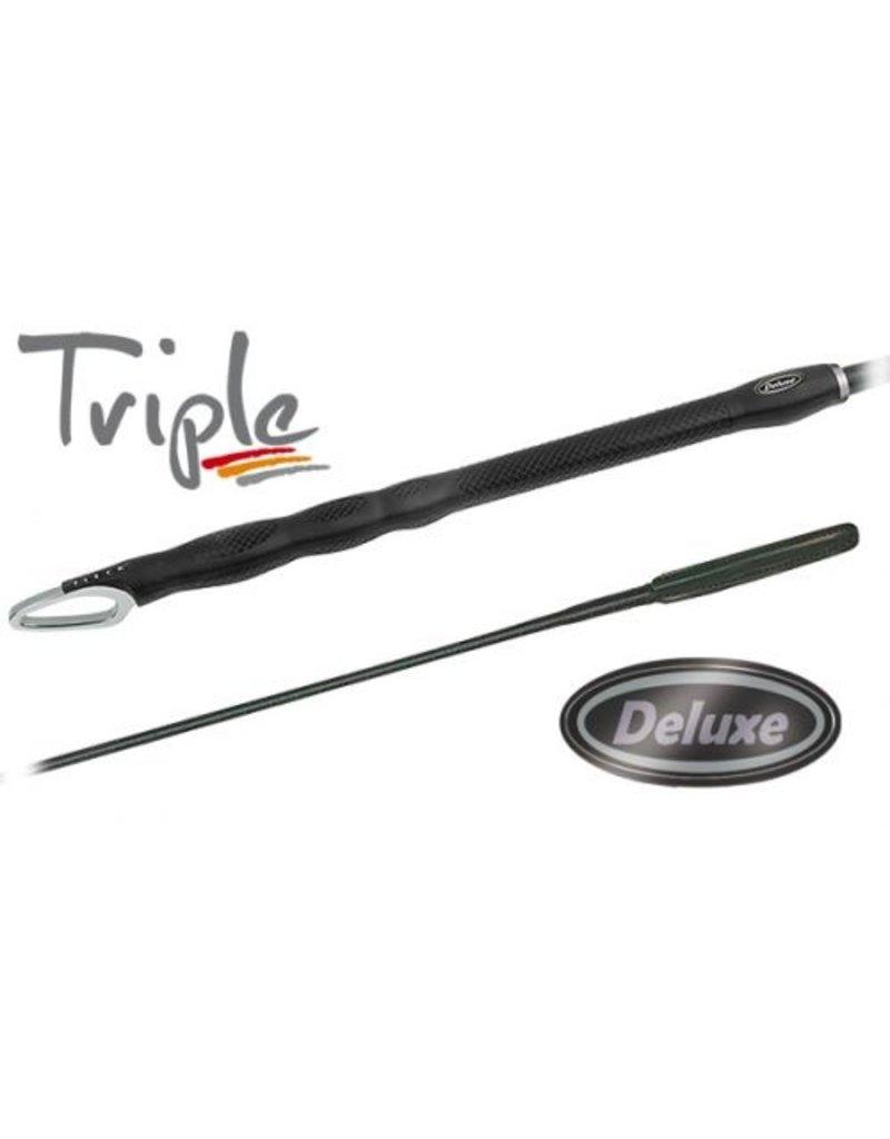 Fleck Triple Deluxe Dressage Whip