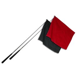 Double Diamond Composite Flag Shaft with Rubber Handle Black