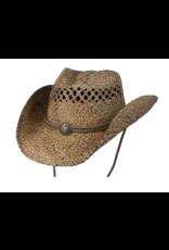 BC Hats John Stone Western Shapeable Raffia Hat