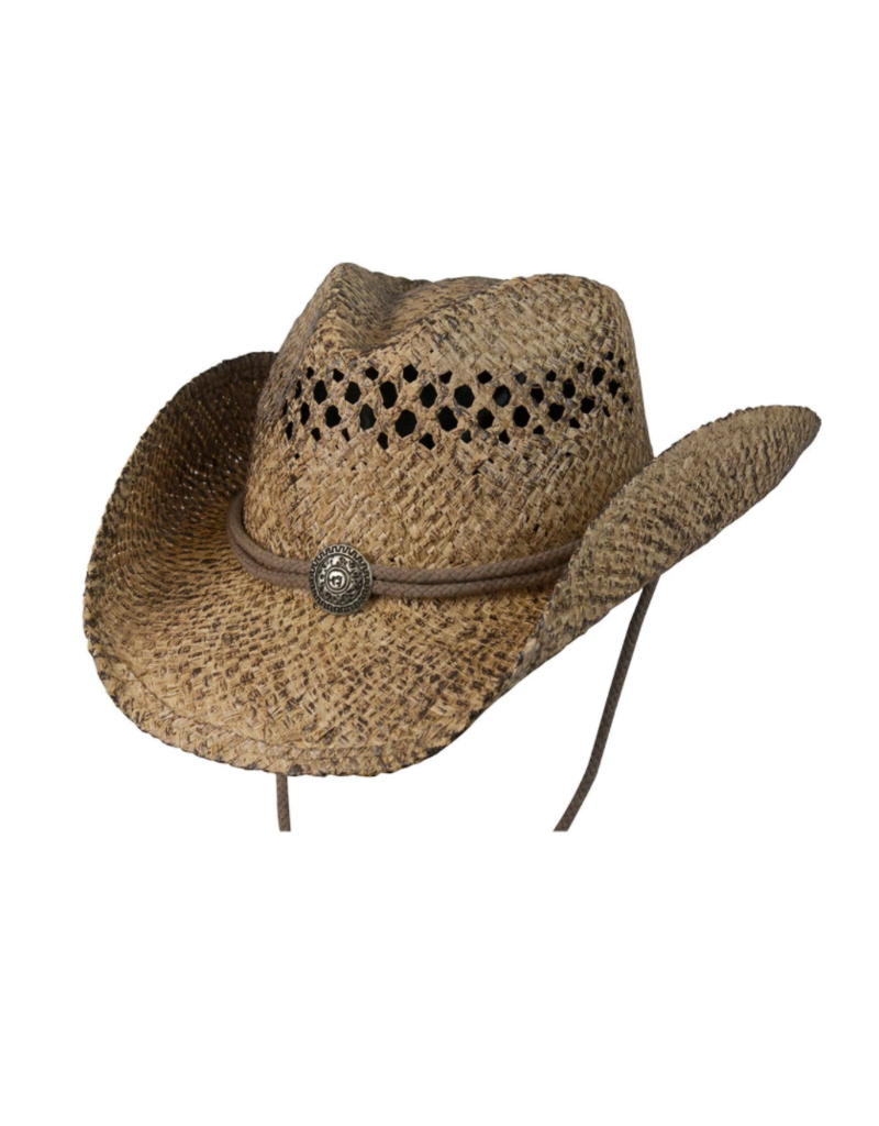 BC Hats Organic Raffia Hat with Concho