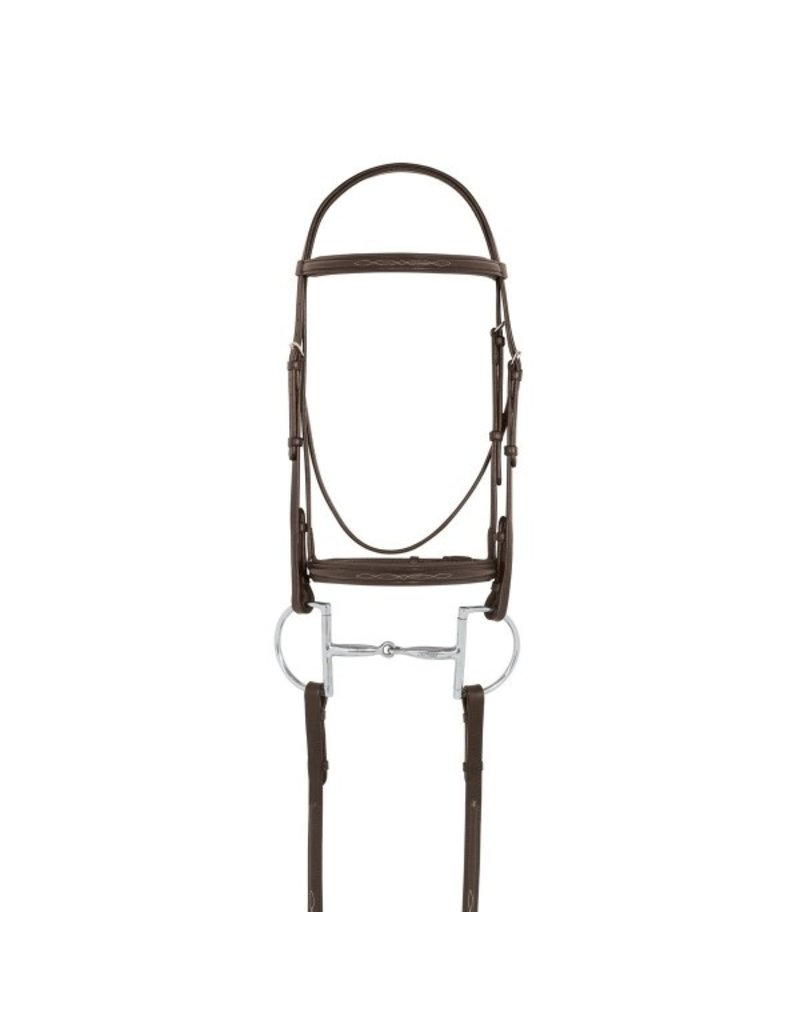 Camelot Fancy RSD Pad Bridle Brown Pony
