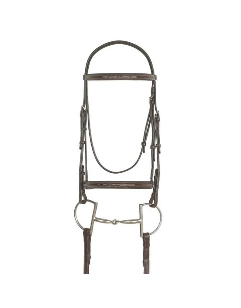 Ovation Fancy Raised Padded Bridle with Laced Reins Pony