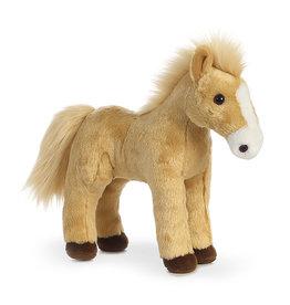 "GT Reid 12"" Standing Golden Horse Plush"