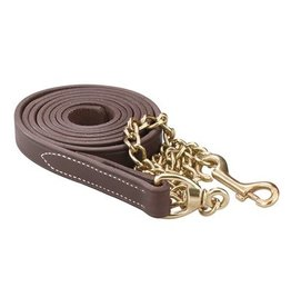 Perris Leather Lead with Solid Brass Chain Havana