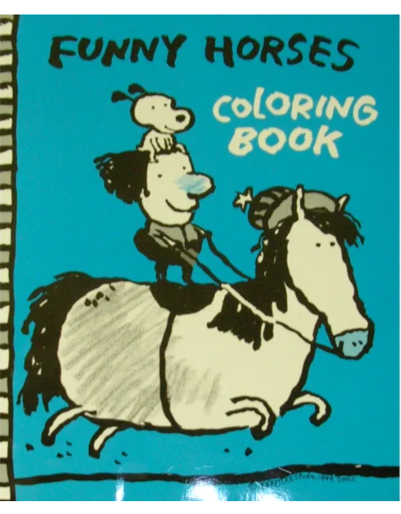 Horse Hollow Press Funny Horses Coloring Book